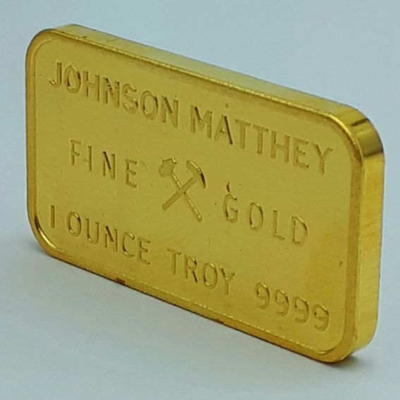 1 Troy Ounce (31.19 Grams) Minted 24 Carat Gold Bullion Bar 999.9,  Johnson Matthey, London ***NO RESERVE PRICE ****