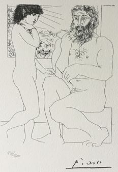 Pablo Picasso (after) - Suite Vollard , PLanche X