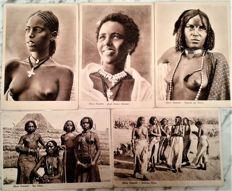 Italy - 1930 - 26 postcards of East Africa