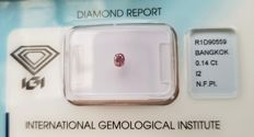 Natural Diamond - 0.14 ct - Natural Fancy Pink  ** I2 ** No Reserve Price **