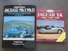 Lot of 2 Books - Nigel Thorley - Original Jaguar MK1/MK2 - Duncan Wherrett - Jaguar XK 120/140/150 - 1990/1998