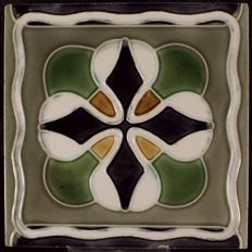 Art Nouveau tile from Meissen