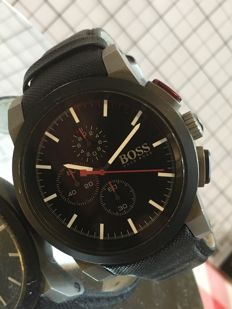 "Hugo Boss ""SPORTS Chronograph"" – men's wristwatch – 2017 -- used, in near mint condition."