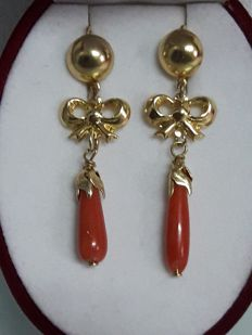 Earrings (Coral) Authentic of the Mediterranean