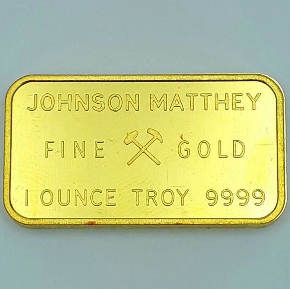 1Troy Ounce( 31.19 Grams) Minted 24 Carat Gold Bullion Bar 999.9 Pure Gold,  Johnson Matthey, London