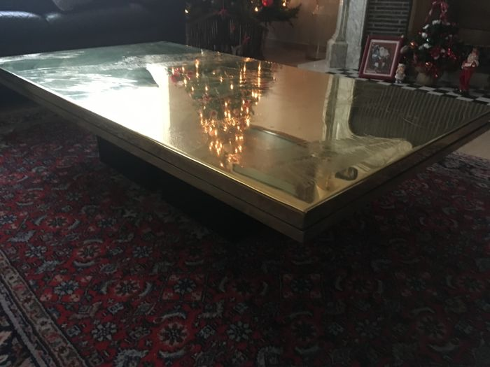 Christian Heckscher - etched copper vintage coffee table