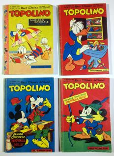 Topolino - 4 albums - issues nos. 144. 146. 149. 150. - 1956