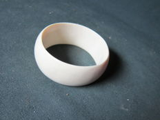 Wide antique ivory bracelet