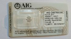 1.05 carat G SI3 Round Brilliant Natural Diamond 3 x EXCELLENT