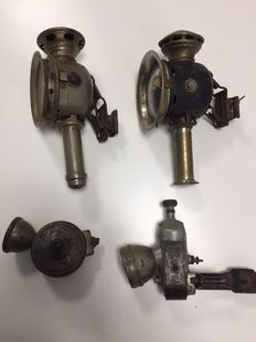 Lot of vintage bike lights, from various years
