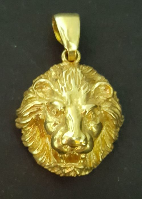 18 kt gold pendant lions head weight 1075 g 32 x 20 mm catawiki 18 kt gold pendant lions head weight 1075 g 32 x 20 aloadofball Choice Image