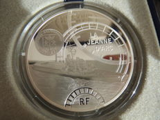 "France - €10 coin, 2012, ""Grand Navires Francais - La Jean d'Arc"", with slipcase - silver"