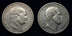 Germany, Prussia - Taler 1859 A and Taler 1866 A (2 pieces) - silver
