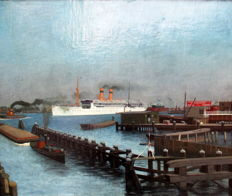 Jan Ouwersloot ( 1902 - 1975 ) - Nederlandse haven