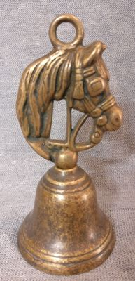 Lost-wax cast bronze table top bell - Italy, Venice - late 1800s