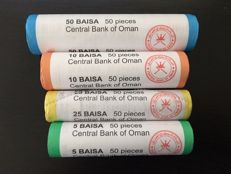 Oman - 5/50 Baisa 2015 '45th National Day' in 4 rolls (50 sets) (200 pcs)