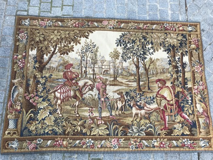 Jaquar tapestry, Aubusson style, France, end of the 20th century