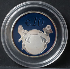 Estonia - 10 Euro 2011 'The future of Estonia' with diamond application - silver