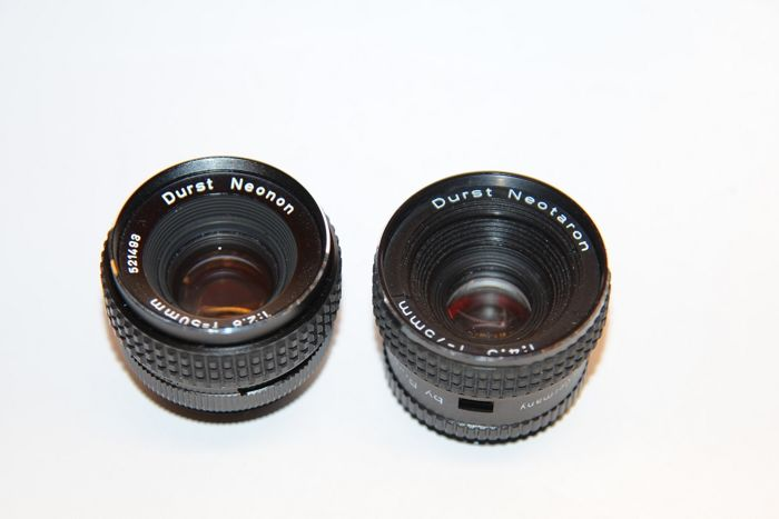 2 Vergroting lenzen Durst Neonon 50mm 2.8 + Durst Neotaron 75mm 4.5