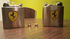 FERRARI set- Double version canister-styled INOX-original Ferrari canteen/flask-18 oz/560ml.Limited.