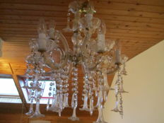 Crystal chandeliers, Germany, circa 1940
