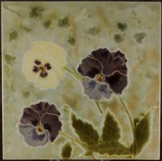 Minton - China Works Art Nouveau tile