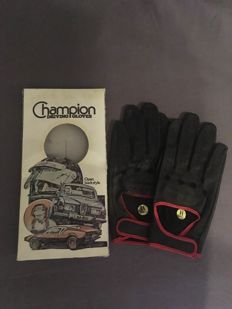 1960's vintage leather racing gloves