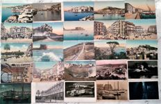 Italy - Naples + Milan + Sorrento + Capri = 68 postcards Antique + Sorrento - 7 postcards Antique + Capri - 5 postcards Antique