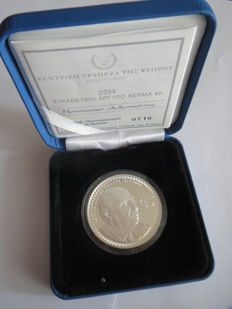 "Cyprus - €5 coin, 2014 ""Costas Montis"", with slipcase - silver"