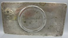 Antique silver tobacco box - Engraving Procession from Den Bosch to Kevelaer - 1824