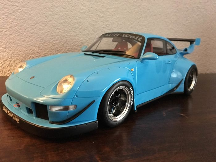 gt spirit scale 1 12 porsche rwb 993 blue catawiki. Black Bedroom Furniture Sets. Home Design Ideas