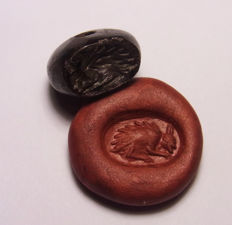 "Hardstone Bead Seal  ""Thorn Animal"" - 17.1 mm"
