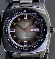 "Seiko Automatico Black ""Retro-Style"" - New - Men's - Men's Automatic Watch"