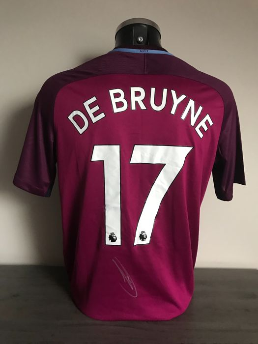 on sale 74409 97b99 Kevin De Bruyne signed Manchester City away 2017-2018 shirt ...