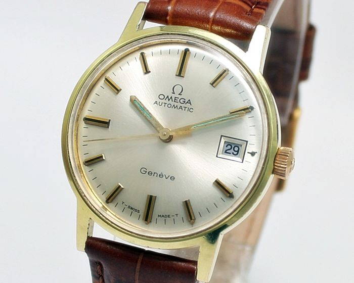 828a3455a Omega Geneve Gold Plated Automatic Men's Wrist Watch - Reference MD 166.070  - Year 1969