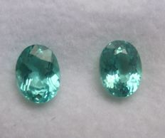 Apatite Matching Pair – 1.97 ct Total