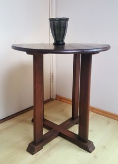 Hague School side table on crossed base