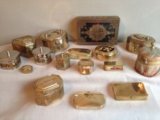 Nice collection of 16 brass boxes