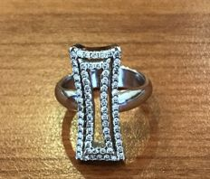 Chimento - 18 kt white gold ring with 0.70 ct diamonds Rings size 13