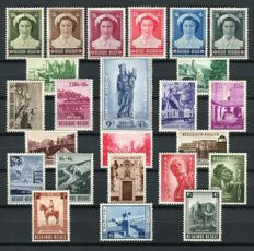 Belgium 1953/1954 - selection of 5 series - OBP 912/951