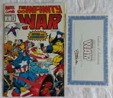 Infinity War Ron Lim Signed Issue # 2 Comic with COA 1992 NM/M Marvel Comics