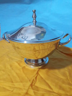 Centrepiece with Sheffield silver lid