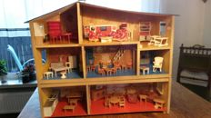 large dollhouse from the postwar era WW 2