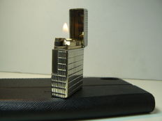 Silver plated Dupont lighter, line Prince de Galle