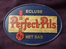 1948 Vintage Belgian beer Advertising sign PERFECT PILS Ecluse het Sas