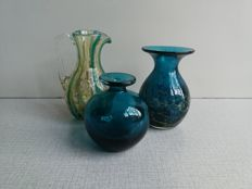Mdina glass - 2 vases and a jug