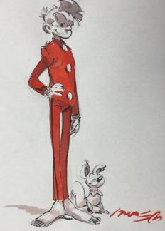 Munuera - original colour drawing - Spirou + Spip