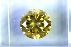 Fancy INTENSE Greenish Yellow -  2.06 ct - Excellent Cut  -  * NO RESERVE PRICE *