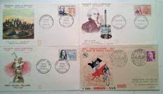 France and World – Lots of envelopes, FDS and Commemoration cards