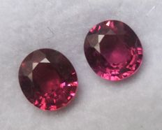 Pair of rhodolite Garnets – 2.30 ct Total – No Reserve Price